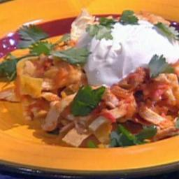 Chicken and Green Chile Chilaquiles