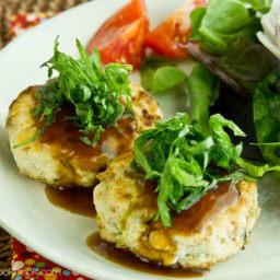 Chicken and Tofu Burger Steak