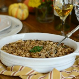 Chicken and Wild Rice Amandine Casserole