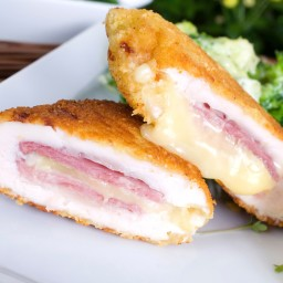 Chicken Cordon Bleu with Parmesan Dijon Sauce