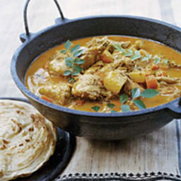 Chicken Curry with Potatoes and Squash