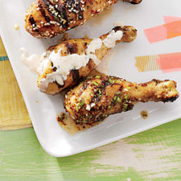 Chicken Drumsticks with Bourbon-Dijon Glaze