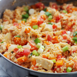 Chicken, Rice and Vegetable Skillet