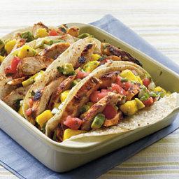 Chicken Tacos with Mango-Avocado Salsa