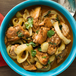 Chicken Tagine with Fennel and Olives