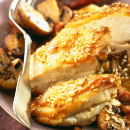 Chicken with sesame seeds & mushrooms recipe