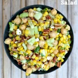 Chickpea Corn Salad