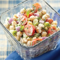 Chickpea Salad With Lemon Yogurt Dressing