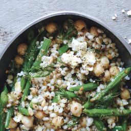 Chickpea, Barley, and Feta Salad