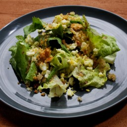 Chicory Salad With Chopped Egg and Crisp Bread Crumbs