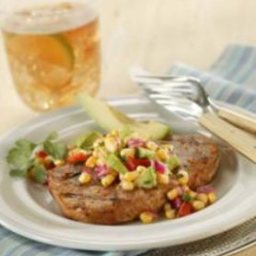 Chile-Rubbed Grilled Pork Chops