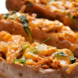 Chili Chicken Sweet Potato Skins