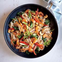 Chili-Garlic Shrimp and Noodle Stir-Fry