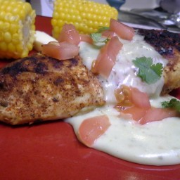 Chili Lime Grilled Chicken with Cheese Sauce