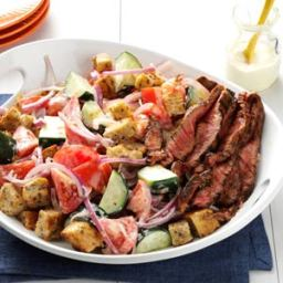 Chili-Rubbed Steak and Bread Salad Recipe