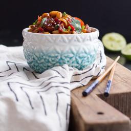 Chili Cashew Shrimp Noodles.