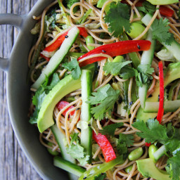 Chilled Noodle Salad with Ginger Wasabi Dressing
