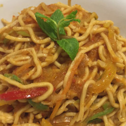 Chilli garlic soslu ramen noodle ( doors akademi)