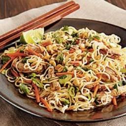 Chinese Pork Tenderloin with Garlic-Sauced Noodles