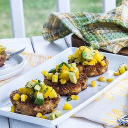 Chipotle Crab Cakes with Avocado-Mango Salsa