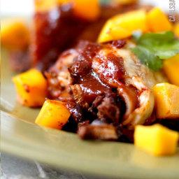 Chipotle Chicken, Mango and Black Bean Enchiladas