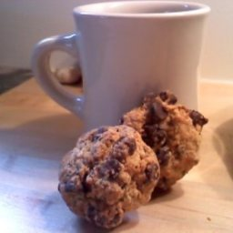 Chocolate Chip Cookies with coffee!