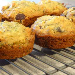 Chocolate Chip Orange Zucchini Muffins with Walnuts
