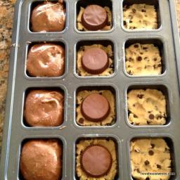 Chocolate Chip Peanut butter cup brownies