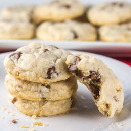 Chocolate Chip Pecan Shortbread Cookies