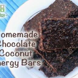 Chocolate Coconut Energy Bars