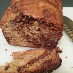 Chocolate Marbled Banana Bread