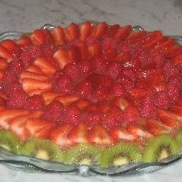 Chocolate Mosaic Fruit Tart