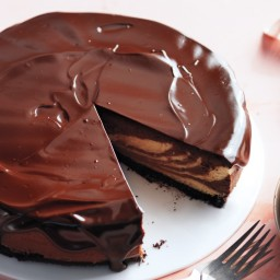 ... Cheesecake Chocolate-Peanut Butter Cheesecake with Chocolate Glaze