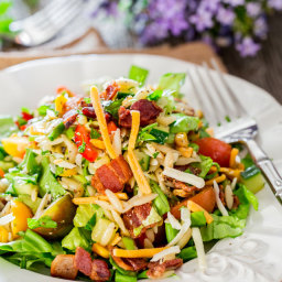 Chopped Salad with Orzo and Corn