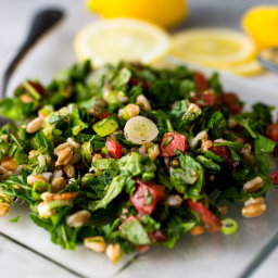 Chopped Herb Salad with Farro