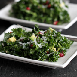 Chopped Kale Salad Recipe with Pomegranate and Avocado
