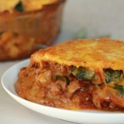 Chorizo and Polenta Lasagna