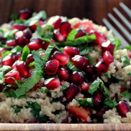 Christmas Salad with Couscous and Pine Nuts