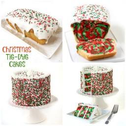 Christmas Tie-Dye Pound Cake