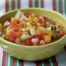 Chunky Tomato-Fruit Gazpacho