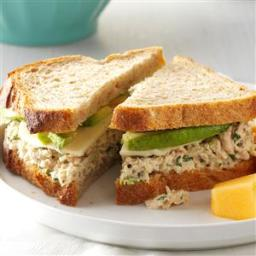 Cilantro-Avocado Tuna Salad Sandwiches Recipe