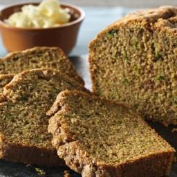 Cinnamon-Topped Whole Wheat Zucchini Bread