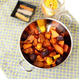 Citrus Sweet Potato and Carrot Roast