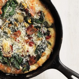Clam, Chard, and Bacon Pizza