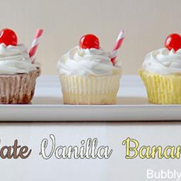 {Classic Milkshake} Ice Cream Cupcakes