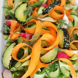 Clean Green Salad with Seeded Avocado