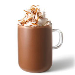 Coconut Hot Chocolate With Almond-Fluff Whipped Cream