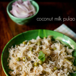 coconut milk pulao recipe - coconut milk rice