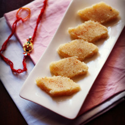coconut barfi recipe - coconut or nariyal barfi with condensed milk