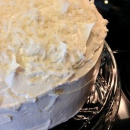 Coconut Supreme Cake with Coconut Buttercream Frosting